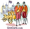 Vector Clip Art image  of a Englishmen in traditional
