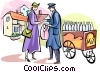 Vector Clip Art graphic  of a English milkman