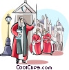 Vector Clip Art graphic  of a English Parliament