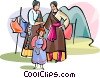 Tibetan family Vector Clipart illustration