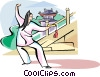 Vector Clipart illustration  of a Tai-chi