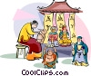 Vector Clipart graphic  of a Typical Chinese craft