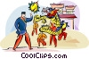 Vector Clip Art graphic  of a Chinese new year festival