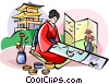 Japanese artist Vector Clip Art picture