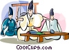 Japanese chef Vector Clipart illustration