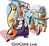 Vector Clipart graphic  of a Japanese Samurai warriors