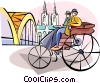 European transportation inventor Karl Benz Vector Clipart image