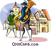 Vector Clipart picture  of a German traditional musicians