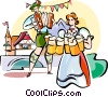 Vector Clip Art picture  of a Oktoberfest celebrations