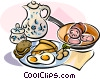 Vector Clipart picture  of a German breakfast