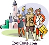 men in traditional costumes Vector Clipart illustration