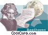 Ludwig van Beethoven Vector Clipart illustration