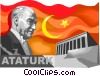 Vector Clip Art picture  of an Ataturk  Founder of the