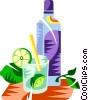 Vector Clip Art picture  of a Caipirinha