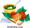 Acaraje, Brazilian deep fried black eye pea cakes Vector Clip Art graphic