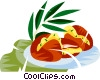 Vector Clipart image  of a Brazilian deep fried black eye pea cakes