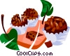 Brigadeiro, Brazilian chocolate fudge candy Vector Clipart picture