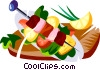 Churrasco, Brazilian barbecue Vector Clip Art picture