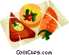 Empadinha, Brazilian meat filled pastry Vector Clipart picture