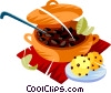 Feijoada, Brazilian national dish of rice,beans, & pork Vector Clipart picture