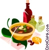 Brazilian black bean soup Vector Clipart illustration