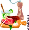 Confraira, Brazilian marinated meat Vector Clip Art picture
