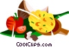 Vatapa, Brazilian soup with coconut milk Vector Clipart image