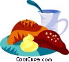 Vector Clipart illustration  of a French breakfast
