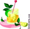 Caipirinha, Brazilian carnival drink Vector Clip Art image