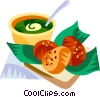 Vector Clipart picture  of an Acaraje