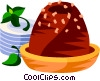 Vector Clipart graphic  of a Brazilian chocolate fudge candy