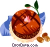 Bolo Brigadeiro, Brazilian choclate cake Vector Clipart illustration