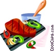 Vector Clipart graphic  of a Churrasco