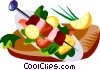Vector Clipart image  of a Churrasco