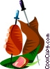 Vector Clip Art image  of a Churrasco