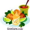 Coxinha, Brazilian chicken filled dough Vector Clip Art picture