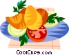 Coxinha, Brazilian chicken filled dough Vector Clipart illustration