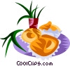 Empadinha, Brazilian meat pie Vector Clipart illustration