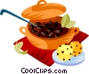 Feijoada, The Brazilian national dish Vector Clipart graphic
