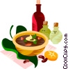 Vector Clipart graphic  of a Brazilian black beans soup