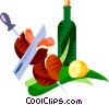 Vector Clip Art picture  of a Picanha