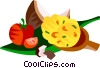 Vector Clip Art graphic  of a Brazilian fish soup with coconut milk