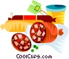 German wurst Vector Clipart illustration