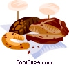 Vector Clip Art graphic  of a German bread