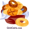 German breads and rolls Vector Clipart illustration