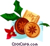 German Christmas springerle cookies Vector Clip Art picture