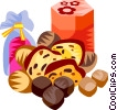 Vector Clip Art picture  of a German Lebkuchen festive chest