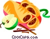 Vector Clipart graphic  of an Austrian apple strudel