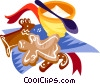 Vector Clip Art image  of a German Christmas cookies