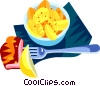 Vector Clip Art image  of a German potato salad